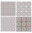 floral seamless mosaic tile ceramic vector image vector image