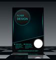 Futuristic flyer vector image vector image