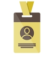 gold Identification card icon vector image