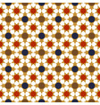 gold red blue moroccan motif tile pattern vector image