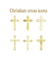 Golden christian cross vector image vector image