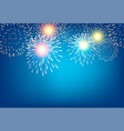 golden firework on blue background for vector image vector image