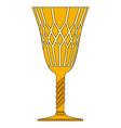 gothic goblet symbol icon design vector image