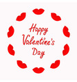Happy Valentines Day Love card Big full thick red vector image vector image