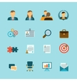 Human Resources Flat Icons Set vector image vector image