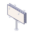 isometric billboard with blank canvas for outdoor vector image
