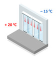 isometric concept air door or air curtain vector image