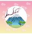 landscape japan culture design vector image vector image