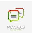 Message clouds company logo business concept vector image