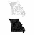 missouri county maps vector image vector image