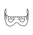 new year mask icon doodle hand drawn or outline vector image