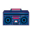 old radio stereo pop art colors vector image