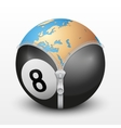 Planet Earth inside billiard ball vector image vector image
