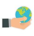 Planet icon Earth design graphic vector image vector image