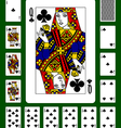 playing cards clubs suit vector image vector image