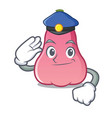 police rose apple character cartoon vector image vector image