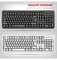Realistic computer keyboard vector image vector image