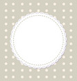 round napkins with various edges isolated on grey vector image vector image