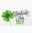 saint patricks day sale poster lettering vector image