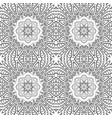 seamless doodle drawing floral ornament ethnic vector image vector image