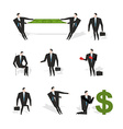 Set businessman situation Figures of man in suit vector image vector image