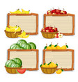 set of fruit banner vector image
