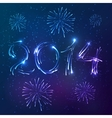 shining neon lights new year card vector image
