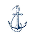 ship anchor vessel mooring vector image