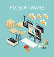 software development concept vector image vector image