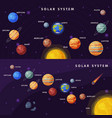 solar system banner set earth saturn mercury vector image