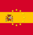 spain national flag with a star circle of eu vector image