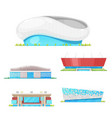 stadium buildings and sport arenas architecture vector image vector image