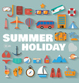 Summer infographics vector image vector image