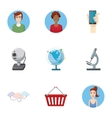 Technical support icons set cartoon style vector image vector image