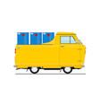 vintage cartoon small truck vector image vector image