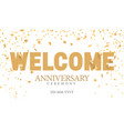 welcom golden inscription vector image