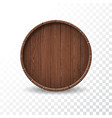 with isolated wood barrel on transparent vector image vector image