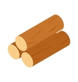 Wooden logs icon isometric 3d style vector image
