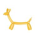 yellow animal balloon figurine vector image vector image
