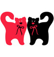 red and black elegant cats vector image