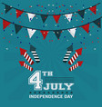 4th july independence day garland confetti vector image