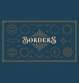 a set vintage borders and design elements vector image vector image