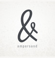 Ampersand elegant symbol on grunge