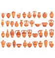 amphora icons set cartoon style