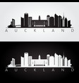 auckland skyline and landmarks silhouette vector image vector image