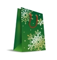 Bag in Christmas colors vector image