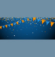 banner with flags and confetti vector image vector image