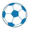blue soccer ball vector image vector image