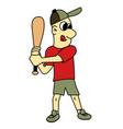 boy play baseball stock vector image