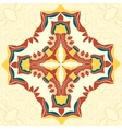 Brown and Yellow Mandala Decorative vector image vector image